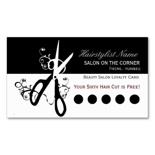 Business card templates card templates and business cards for Salon business card templates