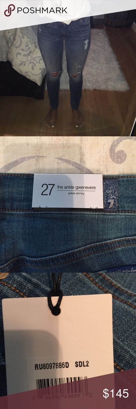 NWT 7 for all mankind jeans NWT size 27. Super comfy and stretchy material not a stiff Jean 7 For All Mankind Jeans Skinny