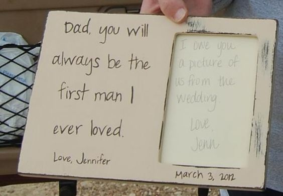 frame I handpainted for my dad and gave to him at rehearsal dinner wedding-ideas