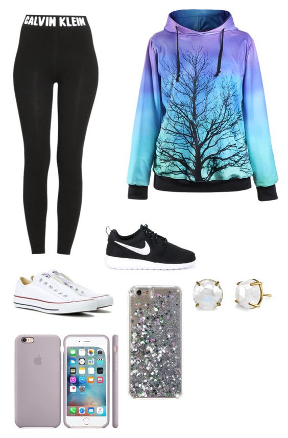 """Casual update"" by stellah01 ❤ liked on Polyvore featuring Calvin Klein, NIKE and Converse"