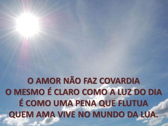 O amor não faz covardia...