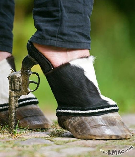 This is for Cheyenne McCandless! Cowgirl heels! I think I may have to start a new board just for weird shoes!