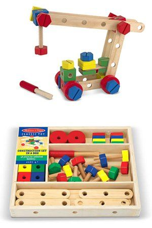 With 48 Wooden Pieces Including Nuts Bolts Drilled Bars To Connect And A Child Size Screwdriver This Cla