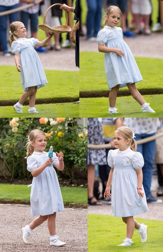 Little Princess being silly & cute at the same time during the celebration of her mummy's 39th birthday on 14th July 2016 at Solliden Castle