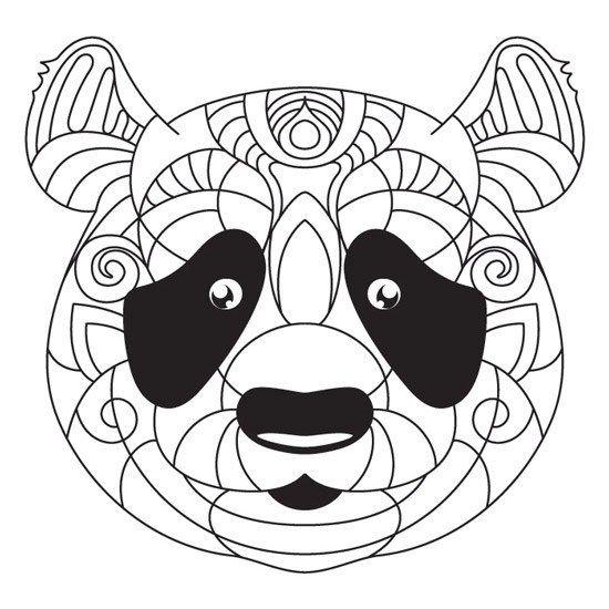 Oso Panda En 2020 Con Imagenes Mandalas Animales Mandalas