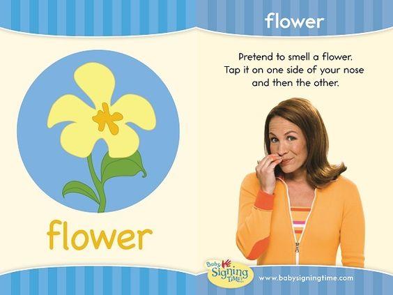 "Sign ""flower"" in American Sign Language"