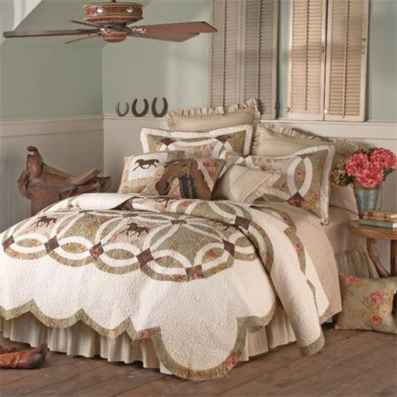 Western bedding bedding and cowgirl on pinterest for Cowgirl themed bedroom ideas