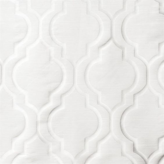 Tryst Curtain Panel in a Quatrefoil Moroccan Tile Design ...