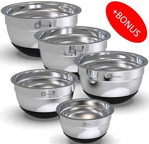 Top 10 Best Stainless Steel Mixing Bowl Sets In 2020 Topreviewproducts Stainless Steel Mixing Bowls Mixing Bowls Set Bowl Set