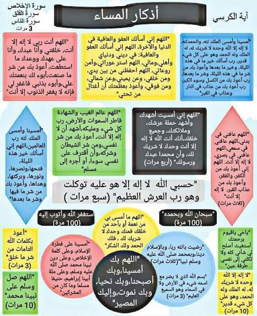 اذكار المساء مكتوبة Islamic Inspirational Quotes Islamic Quotes
