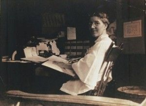 "Charlotte Perkins Gilman author of such works as ""The Yellow Wallpaper"""
