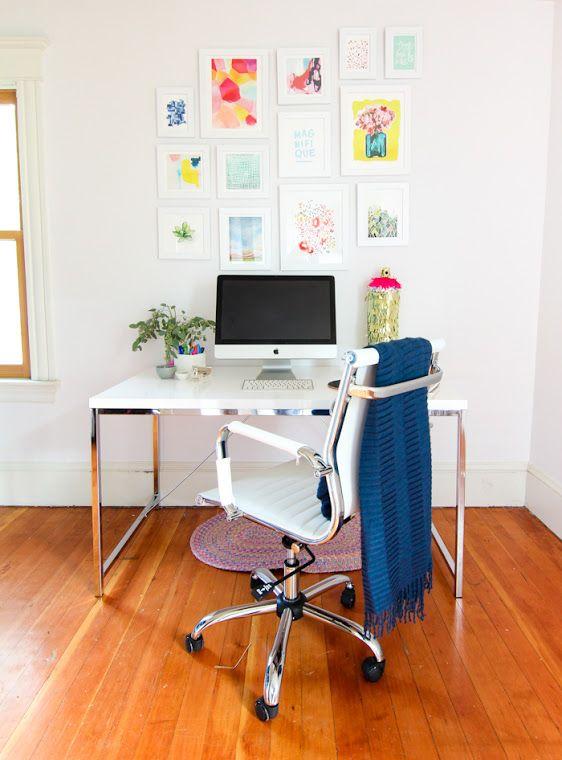 Home Office- Poucos móveis, muito charme