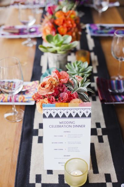 Modern Mexican wedding inspiration: http://www.stylemepretty.com/little-black-book-blog/2014/08/01/modern-mexican-wedding-inspiration/ | Photography: http://lunaphoto.com/#home/: