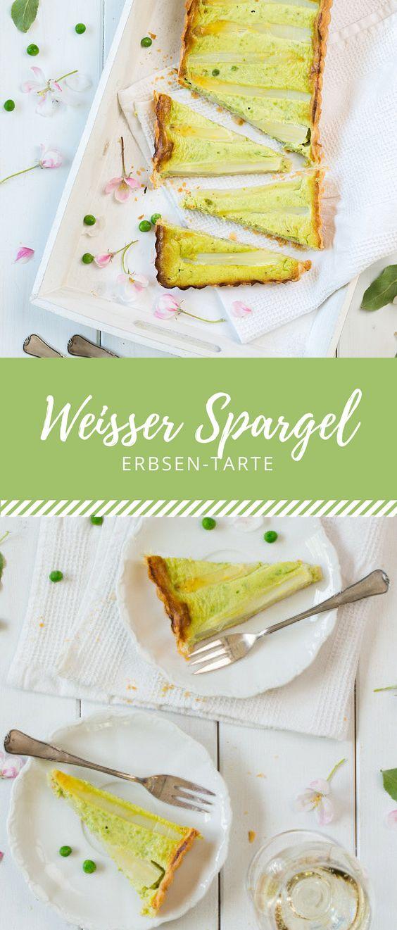 So schmeckt der Frühling! Ein leckeres Rezept für eine schnelle Spargel-Erbsen-Tarte.
