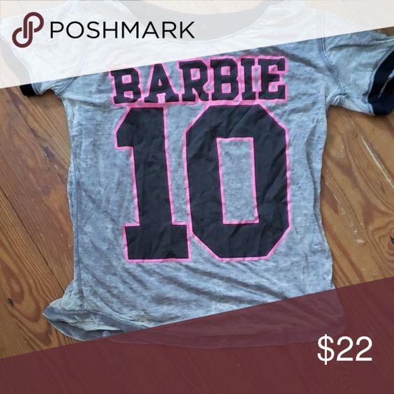 Popgear Barbie Text Logo Ni/ñas Lentejuelas Reversibles Camiseta/ mercanc/ía Oficial