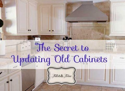 Updating 80's Builder Grade Kitchen Cabinets | Gabinetes viejos ...