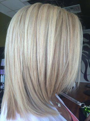 blond color with balayage lowlights and blond keratin