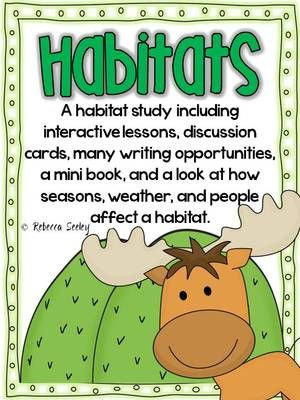 Habitats- An Interactive Study  from Rebecca Seeley on TeachersNotebook.com -  (65 pages)  - A great interactive pack filled with fantastic learning opportunities!!