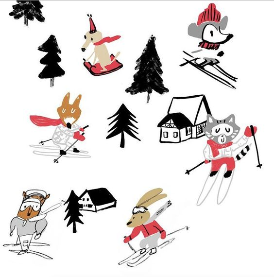 Only 13 days until Christmas and I'm still working on the ski design, hopefully this will become a gift wrapping paper.