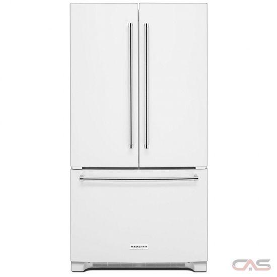 Kitchenaid Krfc300ewh French Door Refrigerator 36 Width Freezer