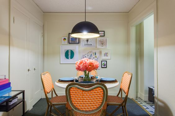 Dwell with dignity september install view of dining room smart decor 4 small spaces - Dwell small spaces image ...
