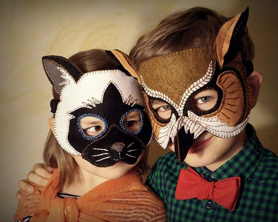 Great source on Etsy for awesome DIY Halloween mask patterns of varying levels.: