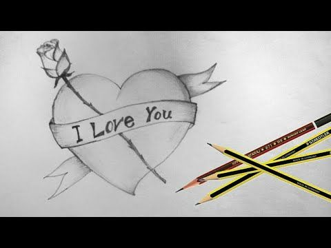 How To Draw Love Heart 2019 Youtube Valentines Day Drawing Heart Drawing Bird Drawings