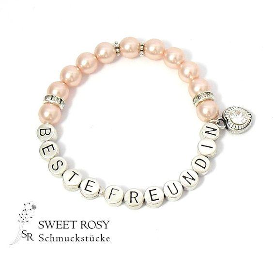 Armband beste freundin schmuck perlen best friend for Armband fa r beste freundin