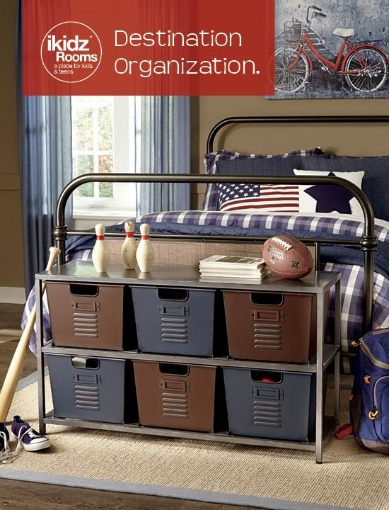 Kid youth and organizers on pinterest - Keep your stuff organized with bedroom closet organizers ...