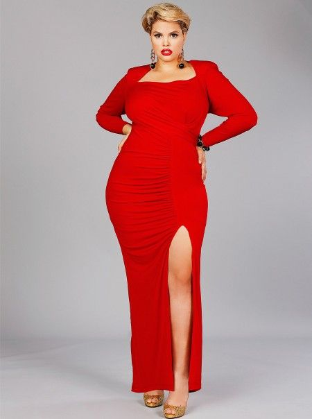 red plus gowns dresses  Holiday Red Plus Size Evening Gowns ...