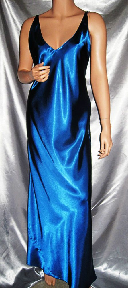 image New liquid satin long night dress
