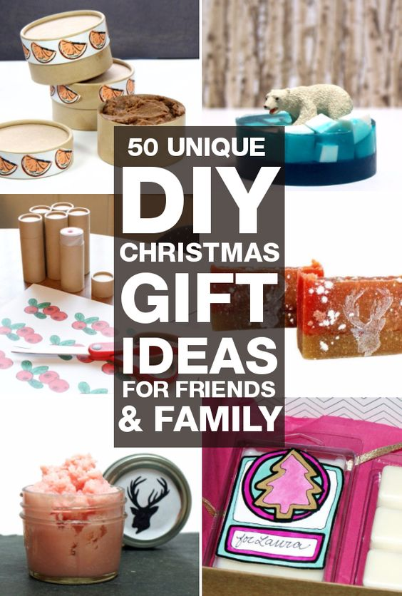 DIY Christmas gifts you can make for your friends and family! 50 unique DIY Christmas gift ideas perfect for holiday gifting for everyone on your list!