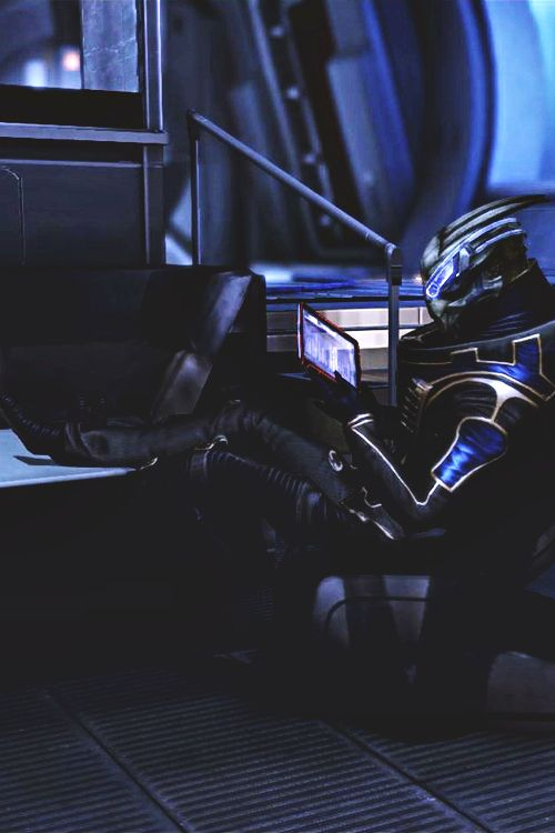 Garrus taking a bit of time off from Calibrations. (finally):