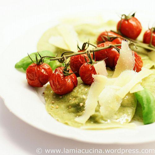 Ravioli with cherry tomatoes