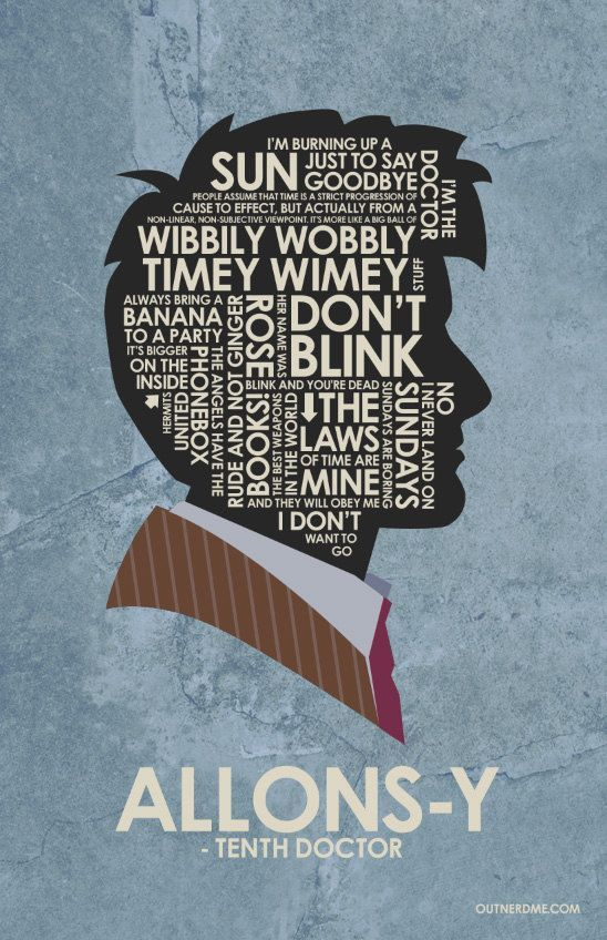 Doctor Who 10th poster print