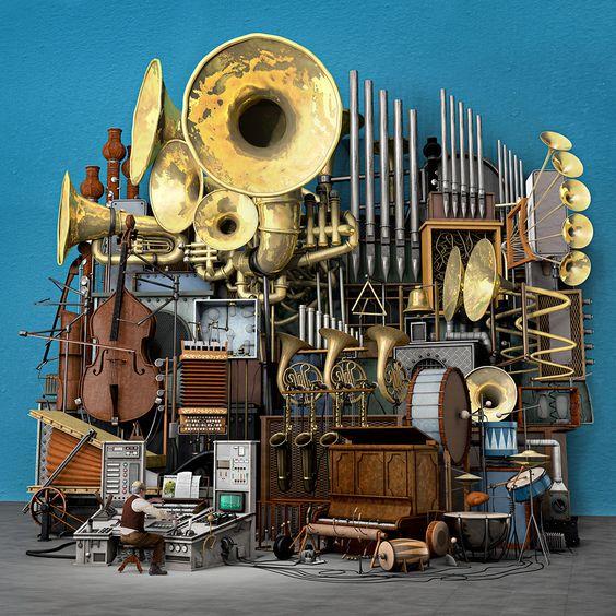 Serafin und seine Wundermaschine by ChristianGerth ~Steampunk Love •❀• by Airship Commander HG Havisham  http://steam-on-steampunk.tumblr.com/post/124079294904