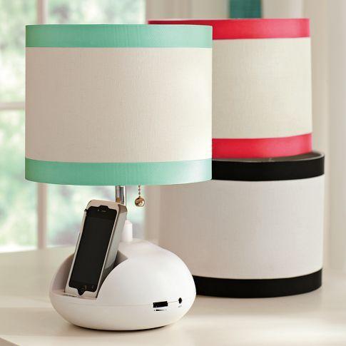 Tune-In Lamp Base + Ribbon Shade | PBteen
