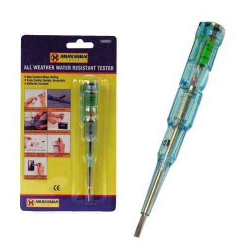 ALL WEATHER WATER RESISTANT ELECTRICAL VOLTAGE TESTER SCREWDRIVER AC DC NEW