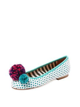 Pom Pom Ballet Flat from Shop by Size: Sizes 9-10 on Gilt