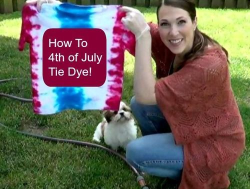 fourth of july tie dye cake