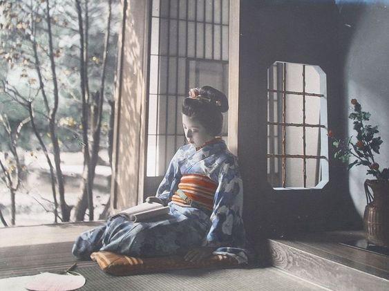 Самураи и гейши на японских фотографиях столетней давности