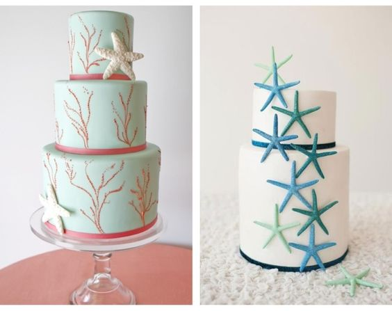 Nautical by Nature: Ocean Inspired Wedding Cakes