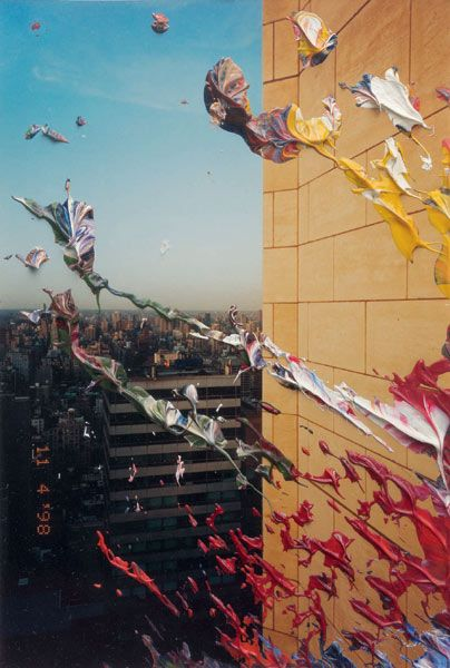 """20. Nov. 1999"", by Gerhard Richter. Oil paint on color photography. Museum Morsbroich, Leverkusen (Germany)."