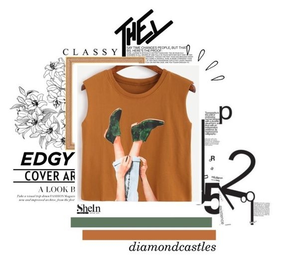 """""""Camel Graphic Print Top"""" by leotheo ❤ liked on Polyvore featuring Old Navy"""