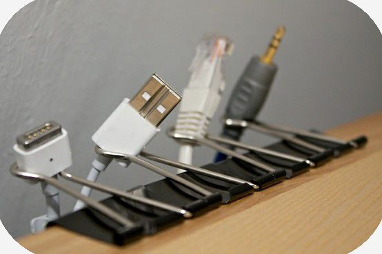 Binder clips come to the rescue! Never get your cords mixed up again.