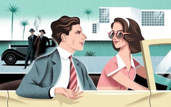 Jesse Eisenberg and Kristen Stewart in Woody Allen's new movie.
