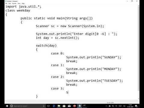 2020 Programming In Java Switch Case Part1 Practice In This Video We Explain About Switch Case General Examples Wher In 2020 Computer Programming Syntax Switch