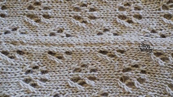 Cómo tejer un suéter/jersey calado en dos agujas