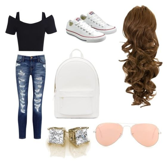 """""""Untitled #6"""" by mitchgra on Polyvore featuring Converse, Current/Elliott, PB 0110 and Ray-Ban"""