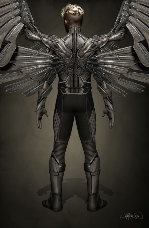 Concept Art Revealed for Ben Hardy's Angel in X-MEN: APOCALYPSE — GeekTyrant